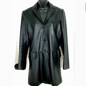 BCBG Maxazria Collection Leather Jacket 2 XS